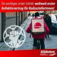 Kollektivvertrag für FahrradbotInnen
